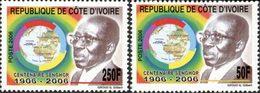 COTE D'IVOIRE Centenaire L.Senghor 2006 2v  Neuf ** MNH - Côte D'Ivoire (1960-...)