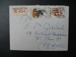 Sénégal  Lettre Recommandée N° 434  -  1973   Agence Rufisque    Pour La Sté Générale En France  Bd Haussmann Paris - Sénégal (1960-...)