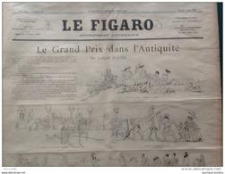 """1888 LE FIGARO Supplément Littéraire N° 23 CARAN D'ACHE """" Le Grand Prix Dans L'antiquité """" - Giornali"""