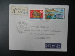 Sénégal  Lettre Recommandée N° 1879 -  1970    Agence Dakar    Pour La Sté Générale En France  Bd Haussmann Paris - Sénégal (1960-...)
