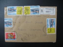 Sénégal  Lettre Recommandée N° 6901 -  1970    Agence Dakar    Pour La Sté Générale En France  Bd Haussmann Paris - Sénégal (1960-...)