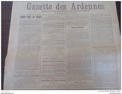 1917- GAZETTE DES ARDENNES - BULLETINS OFFICIELS - GRANDPRÉ - PRISONNIERS DE GUERRE - GÉNÉRAL BASSOT - Journaux - Quotidiens