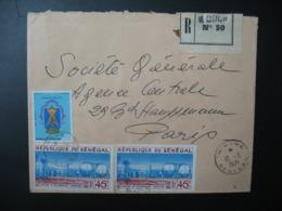 Sénégal  Lettre Recommandée N° 50 -  1971    Agence M'Bour    Pour La Sté Générale En France  Bd Haussmann Paris - Sénégal (1960-...)