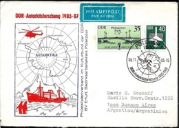 AANT-250 ANTARCTIC GERMANY DDR 1985-7 RESEARCH EXPEDITION COVER - Briefmarken