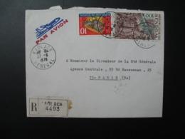 Sénégal  Lettre Recommandée N° 4493 -  1978    Agence Kaolack   Pour La Sté Générale En France  Bd Haussmann Paris - Sénégal (1960-...)