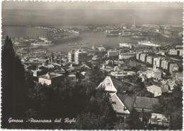 W4743 Genova - Panorama Del Porto Dal Righi - Navi Ships Bateaux / Viaggiata 1952 - Genova (Genoa)