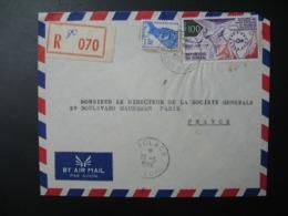 Sénégal  Lettre Recommandée N° 070  -  1974    Agence Kaolack   Pour La Sté Générale En France  Bd Haussmann Paris - Sénégal (1960-...)