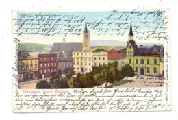 BÖHMEN & MÄHREN - WEIDENAU / VIDNAVA, Rathausplatz, Ecknicke - Sudeten