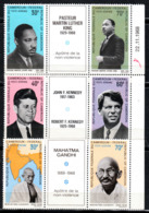 CAMEROON  TRIPLETS FAMOUS MEN  GANDHI   JFK  MAARTEN L.KING  MNH - Camerun (1960-...)