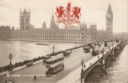 """Views Of London""  Group Of Siz (6)  Tuck Heraldic View  Series Postcards # 2174/2175 - Tuck, Raphael"