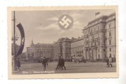 A 1000 WIEN, Schwarzenbergplatz, NS-Propaganda, 1938, Feldpost - Vienna Center