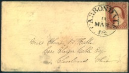 1851 Ca., 3 Cent Washington Imperforated On Small Cover From CARBONDALE. - Mineralien