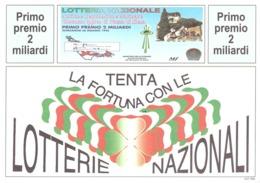 1995 £500 RISO SU CARTOLINA LOTTERIE NAZIONALI - Pubblicitari