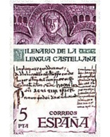 Ref. 84999 * MNH * - SPAIN. 1977. CASTILIAN LANGUAGE THOUSAND YEARS . MILENARIO DE LA LENGUA CASTELLANA - 1931-Aujourd'hui: II. République - ....Juan Carlos I