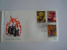België Belgium 1968 FDC Rampen Calamites Schilderijen Tableaux De Pol Mara Cob 1463-1465 - FDC