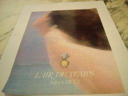ANCIENNE PUBLICITE PARFUM  L AIR DU TEMPS DE NINA RICCI  1976 - Perfume & Beauty