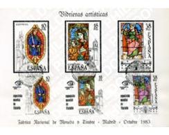 Ref. 272405 * USED * - SPAIN. 1983. ARTISTIC STAINED GLASS WINDOWS . VIDRIERAS ARTISTICAS - 1931-Aujourd'hui: II. République - ....Juan Carlos I