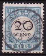 1881-1887 Portzegels Lichtblauw / Zwart Cijfer : 20 Cent Kamtanding 12½  NVPH  P 10 D II - Tasse