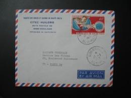 Lettre Entête  Citec Huilerie Haute-Volta  1971 Agence Bobo-Dioulasso Pour La Sté Générale En  France  Bd Haussmann - Haute-Volta (1958-1984)