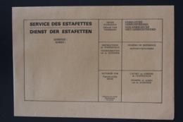 Belgium Dienst Der Estafetten Service Des Estafettes  Cover Unused - Stamped Stationery