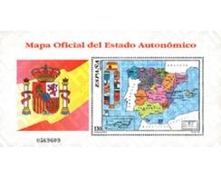 Ref. 86001 * MNH * - SPAIN. 1996. OFFICIAL MAP OF THE AUTONOMIC STATE . MAPA OFICIAL DEL ESTADO AUTONOMICO - 1931-Aujourd'hui: II. République - ....Juan Carlos I