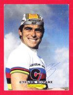 Sport-126A106  Bernard HINAULT, Autographe Original, Cycles Gitane, Maison Chiasson, La Rochelle, BE - Ciclismo