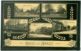 Groet Uit Assen; Meerluik Met O.a. Vaart Zuidzijde En Noordzijde - Niet Gelopen. (Uitgever?) - Assen