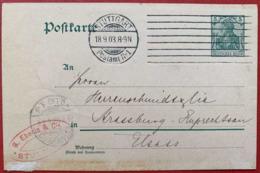 1903 ENTIER POSTAL STUTTGART EMA POSTAMT STRASSBURG CARTE ALLEMAGNE POSTKARTE DEUTSCHES REICH - Brieven En Documenten