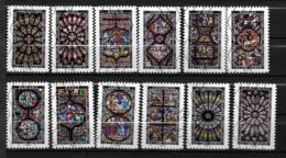 2016 - 170 - 1348 à 1359 - Vitraux De Cathédrales - Oblitéré - Frankrijk