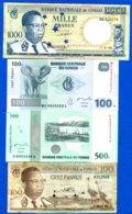 Congo  4  Billets - Congo