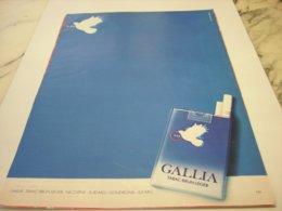 ANCIENNE PUBLICITE UNE VRAI BRUNE CIGARETTE GALLIA 1976 - Raucherutensilien (ausser Tabak)