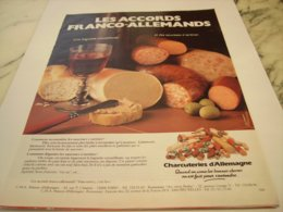ANCIENNE PUBLICITE CONNAISSEZ VOUS LA CHARCUTERIE D  ALLEMAGNE 1976 - Affiches