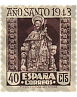 Ref. 209017 * MNH * - SPAIN. 1943. COMPOSTELA HOLY YEAR . AÑO SANTO COMPOSTELANO - 1931-50 Unused Stamps