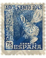 Ref. 209018 * MNH * - SPAIN. 1943. COMPOSTELA HOLY YEAR . AÑO SANTO COMPOSTELANO - 1931-50 Unused Stamps