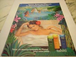 ANCIENNE PUBLICITE TAHITI BAIN AU MONOI 1976 - Perfume & Beauty