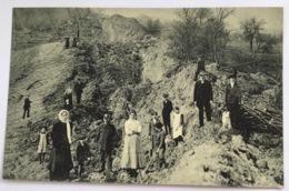 Postcard Tetschen-Bodenbach Decín Erdrutschung Hopfenberg 1914(Ak Czech Republik CZ Tschechien C.p Catastrophe - Tschechische Republik