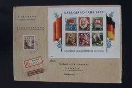 DDR Einschreiben Brief Karl Marx Block 8   Gnolen -> Demmin - Blocks & Kleinbögen