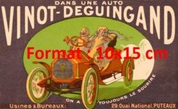 Reproduction D'une Photographieancienne D'une Publicité Dans Une Auto Vinot-Deguingand On A Toujours Le Sourire 1920 - Riproduzioni