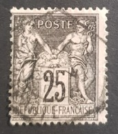 1876-1900, Sage, Pax And Mercur, Type Ll, 25c, France, Empire Française - 1876-1898 Sage (Tipo II)