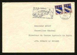 FRANCE - FERRARI - FLAMME 24 HEURES DU MANS 1967 - Marcophilie (Lettres)