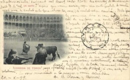 Barcelona CORRIDA DE TOROS  UN QUITE ( Precurseur 1899)   RV   Beaux Timbres5 Centimos X2 Vers Damas Turquie D'Asie - Barcelona