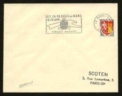 FRANCE - CIRCUIT BUGATTI - FLAMME 24 HEURES DU MANS 1965 - Marcophilie (Lettres)