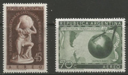 Argentina - 1948-9 Pan-American Cartographers MNH **   Sc C55-6 - Argentina