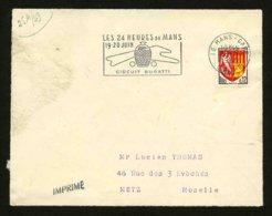 FRANCE - CIRCUIT BUGATTI - FLAMME 24 HEURES DU MANS 1965 - DEVANT DE LETTRE - Marcophilie (Lettres)