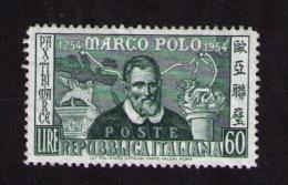 Timbre Neuf Italie, Marco Polo, 60 Lire, 1954 - Explorateurs