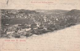 **  57  ***  Gruss Aus ST AVOLD  Vom Bieiberg Greschen -  Timbre Décollé - Saint-Avold