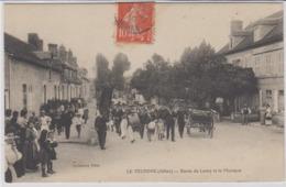 CPA  03 LE VEURDRE  FANFARE  DU VEURDRE.ROUTE DE LURCY SUPERBE ANIMATION - France