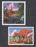 X935 GRENADA FAUNA REPTILES DINOSAURS PREHISTORIC ANIMALS 1KB+1BL MNH - Stamps