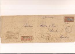 RÉUNION LETTRE ÎLE MAURICE  RECOMMANDÉE 1914 - Maurice (1968-...)