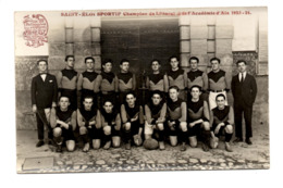 Aix En Provence Saint Eloi Sportif Equipe Rugby 1923 1924 Tirage Carte Photo Ely - Aix En Provence